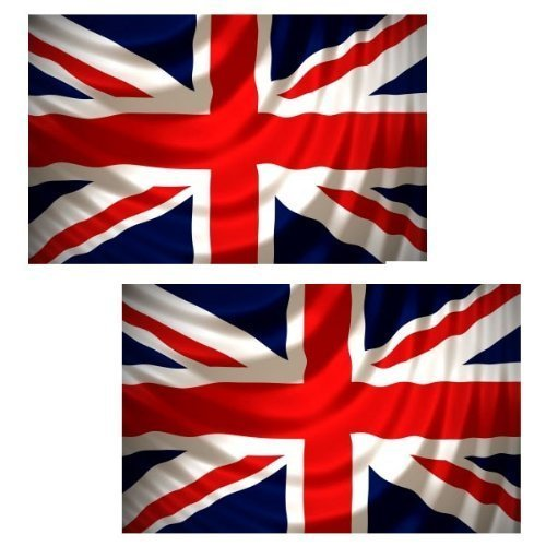 Britische Flagge Union Jack, 152 cm x 91 cm, 2 Stück