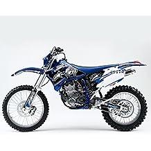 YAMAHA WR 450F 250F 2005-2006 AZUL BLANCO MX MOTOCROSS KIT DE DECAL
