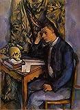 Toperfect 50€-2000€ Handgefertigte Ölgemälde - Junger Mann und Schädel Paul Cezanne Gemälde auf Leinwand Kunst Werk Ölmalerei - Malerei Maße11