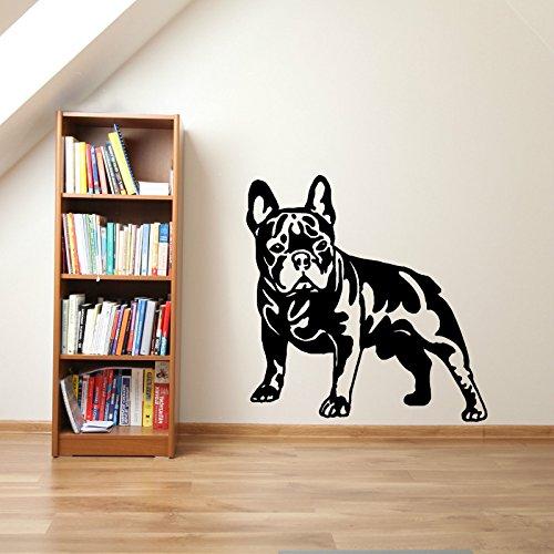Yaonuli Bulldog francés Vinilo Etiqueta de la Pared decoración de la Sala Animal calcomanía Mural...