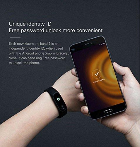 Xiaomi Mi Band 2 Smart Wristband IP67 Heart Rate Monitor OLED Display Anti-perdida Bluetooth Bracelet --- Negro