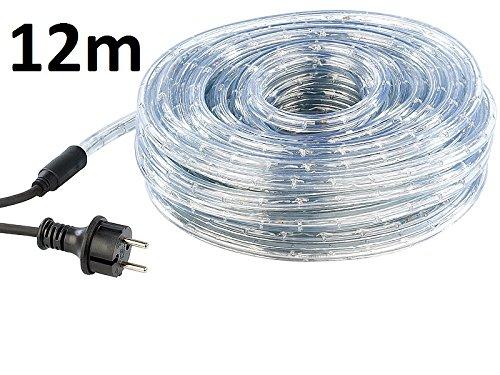 DKB Lichtschlauch für Innen und Außen IP44 Lichterkette Partybeleuchtung Länge wählbar (Länge 12m)