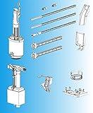 SCHWAB Ersatzteile SET zu UP Spülkasten 182.0400 inkl. Füllventil Bodenventil Auslaufventil