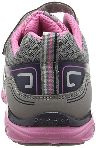 pediped Force, Chaussures de Running Compétition fille Gris (Argent Navy)