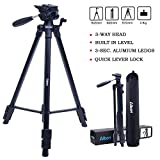 "Tripod-Albott 64"" Camera Tripod Portable Aluminium Lightweight with Carrying Bag for DSLR Cameras Canon Nikon Petax Sony Golden"
