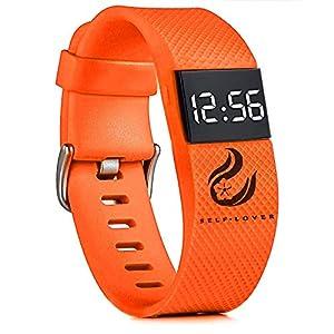 Digital LED Uhren, Unisex Mode Wasserdicht Sportuhr Silikonband Armbanduhren für Damen Herren