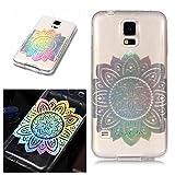 E-Mandala Samsung Galaxy S3 Hülle Ultra Dünn Slim Durchsichtig Silikon Schutzhülle Handy Tasche Etui Handyhülle Transparent mit Muster - Blumen Mandala Flower