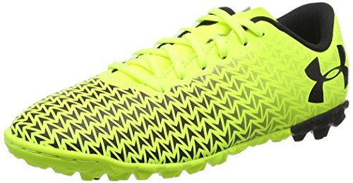 Under Armour Unisex-Kinder UA CF Force 3.0 TF JR Fußballschuhe, Gelb (High-Vis Yellow), 38 EU