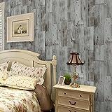ANNDEEW papel pintado Fondos de pantalla fondos de pantalla papel tapiz imitación de madera de grano de madera Vintage den papel de pared de fondo Cafe Club , 88111