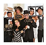 amscan 399444Photo Booth-Set Hollywood, Multicolore