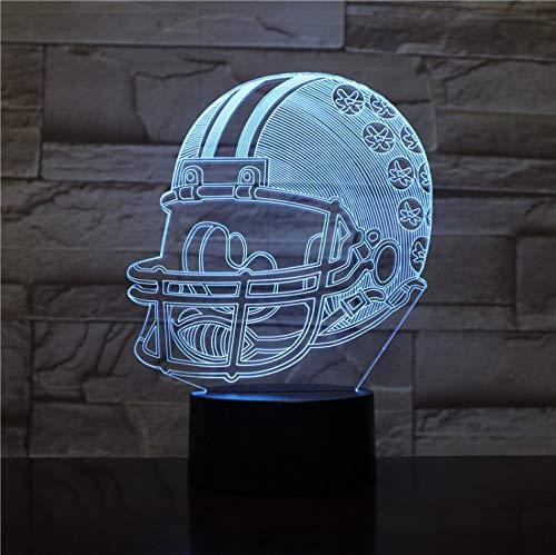 Led Nachtlicht Usb Ohio State Buckeyes Football Helm Kinder Kinder Geschenk Farbwechsel Tischlampe Schlafzimmer Gadget 3D - Ohio State Buckeyes Led