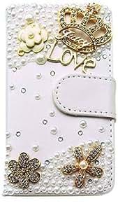 Schutzhülle 3D Bling Strass Flip Leder Schalen/Tasche Magnet PU Case Diamant Hülle Crystal Handy Cover Etui für Samsung Galaxy S3 S III GT-i9300 Smartphone Android