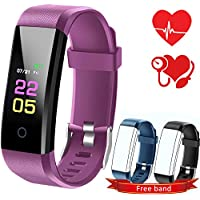 Fitness Trackers-kids Fitness Tracker Watch With Heart Rate Monitor, Activity Trackers With Blood Pressure Monitor, Waterproof Pedometer Watch With Sleep Monitor, Step counter Watch For Kids Women Men…