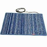 Mi-Heat Fußwärmer Heizmatte Heizteppich 50x75cm Teppichheizung Wärmematte Heating Mat Carpet Chenille Blau