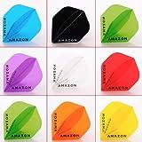 5 x gemischt Sets of Amazon Transparent Dart Flights Standard Form