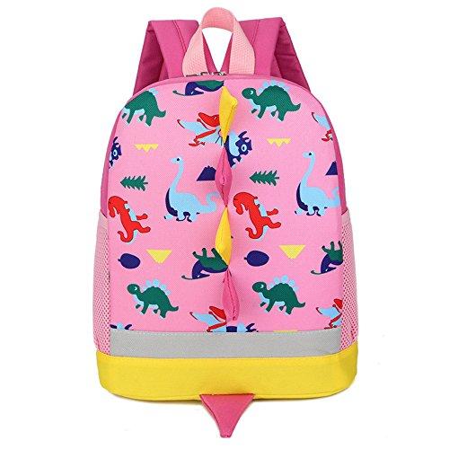 Imagen de dafenq 3d dinosaurio  infantil niño  escolares juveniles dinosaurio patrón animales guardería  viaje bolsos primaria bolsa de la escuela rosa