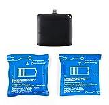 3 Lade-Einheiten PowerBanks Lade-Batterien zur Einmalnutzung für Samsung Galaxy J7 Max | J7 + J5 + J3 | Express Prime 2 | Amp Prime 2 | 7 Prime/On Nxt | Z3 Smartphone. Flexibles Aufladen unterwegs