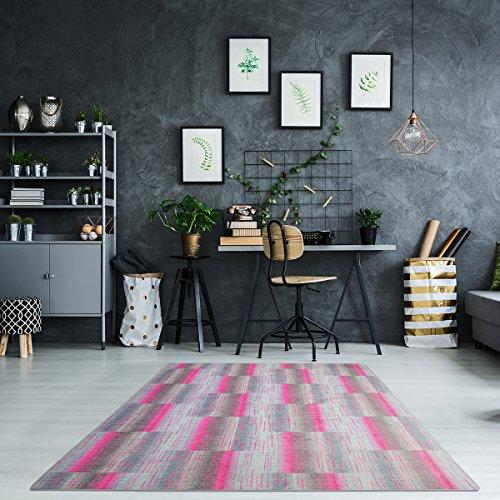 Luxus Schlingen Teppich Magic Light - Farbe wählbar: Pink, Blau, Türkis, Orange, Gelb, Lila | schadstoffgeprüfte und strapazierfähige...