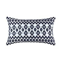 Aitliving Embroidered Throw Pillow Cushion Cover Empire Geometric Pillow Sham 1pc Indigo Blue 30x50cm