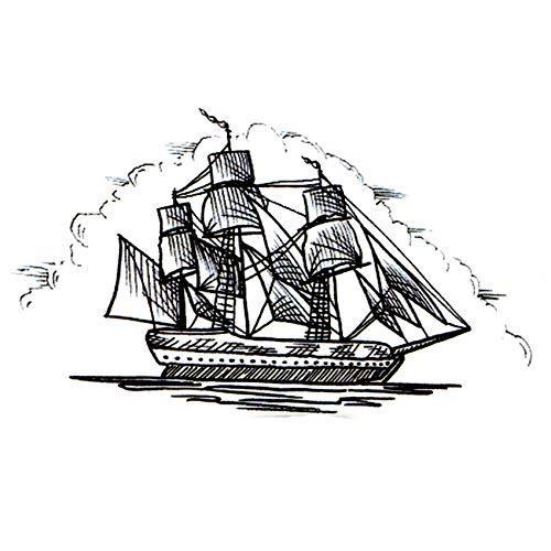 Segelboot Schiff wasserdicht temporäre Tätowierung Aufkleber maquiagem Yacht Fake Tattoo Segelboot The Flash Kids Tatoo Stickers 4set