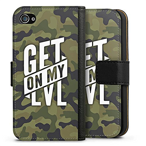 Apple iPhone 7 Silikon Hülle Case Schutzhülle Montanablack Fanartikel Merchandise Get On My Level Camo Sideflip Tasche schwarz