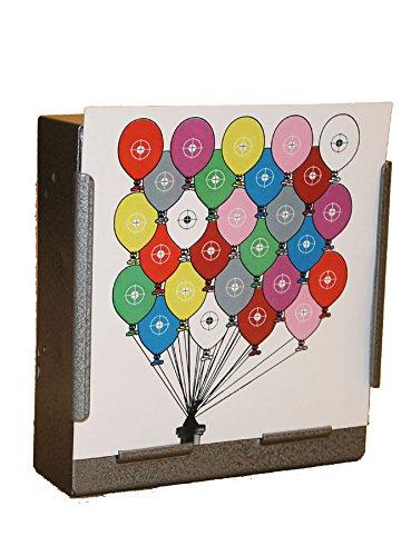100x 17cm Bunte Luftballons Papier Ziele Air Gewehr Pistole (100gsm (Grid-ziel)