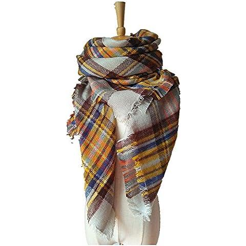 Inverno infinito verificare la copertura XJoel donne il maxi sciarpa avvolgere sciarpa scozzese