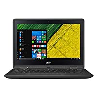 Acer Spin 1 SP111-31-C2PZ 2-in-1 Laptop - Intel Celeron N3350, 11.6-Inch HD Touch, 500GB, 4GB, Eng-Arb-KB, Windows 10, Black