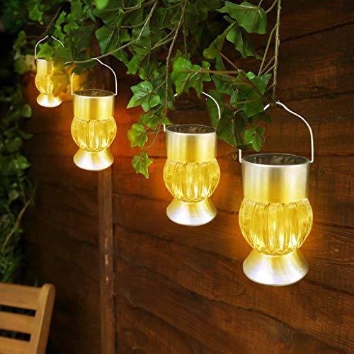 bloatboy Wasserdichte Kürbis Lichterkette, Solarleuchte LED-Licht Kürbis Lampe Outdoor Garden Camping Hänge Lichterkette Dekoration