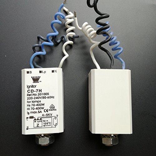 Elektronische Ignitor Vorspeisen für HID HPS Lampen Metall Kompakt Licht 70–400W cd-7h 220–240V 50–60Hz, 3Stück, weiß Farbe - 2