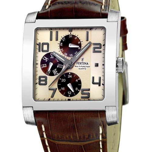Festina Sport 16235/B Unisex Quartz Watch With Leather Band