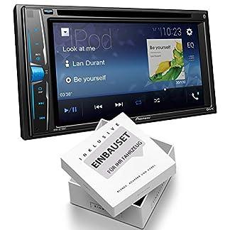 Pioneer-AVHA210-2-DIN-Mediacenter-Bluetooth-USB-Aux-Bluetooth-passend-fr-Skoda-Octavia-II-Facelift