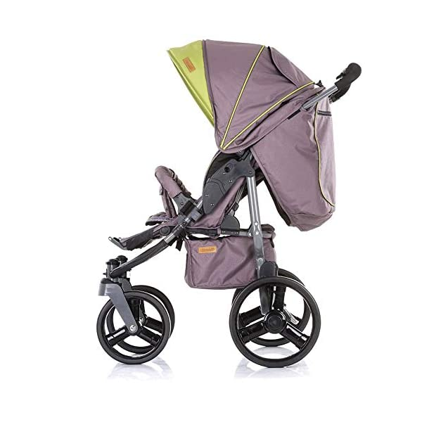 Chipolino Twix Pushchair Brown Chipolino Twin pushchair folds easily with automatic locking From birth, sun canopy with window and pockets Backrest can be adjusted to 5 different sitting and lying positions independently of each other 4