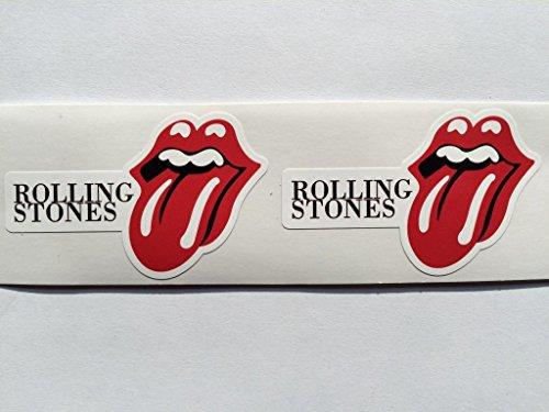 SBD Decals 2 Rolling Stone Name & Zunge Logo Gestanztes Abziehbilder -