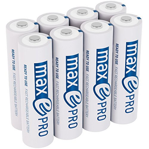 ANSMANN Mignon Akku AA 1,2V min. 1900mAh inkl. Akkubox - NiMH AA Akkus über 2100-mal wiederaufladbar - wiederaufladbare Batterien AA maxE Pro für geringere Selbstentladung - Akku Batterien 8 Stück