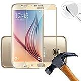 2 x Pack (piena copertura) Protezione Schermo vetro temperato per Samsung Galaxy S6 SM-G920F 5.1 Pollice Film ultra-duro vetro 9H (Oro)