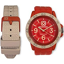 Barcelonetas Fun RED-GRAY Unisex watches W02RD