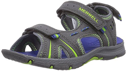 Merrell PANTHER Unisex-Kinder Sport- & Outdoor Sandalen, Blau (Grey/Blue), 38