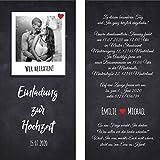 Hochzeit Einladungskarten Hochzeitskarten mit Foto Polaroid (40)