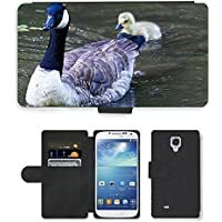 Grand Phone Cases PU Leather Flip Custodia Protettiva Case Cover per // M00141021 Canada Goose Goose Chicks Animaux // Samsung Galaxy S4 S IV SIV i9500