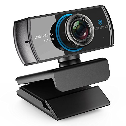 LOGITUBO HD Webcam 1080P/1536P Live Streaming Caméra avec Double Microphones Web Cam Compatible avec XBox One/PC/Mac/Support TV Box OBS/Facebook