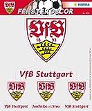 Herma 1991 Selbstklebende Fensterbilder Ohne Klebstoff, Fussball Bundesliga Verein Vfb Stuttgart, Motiv logo sichtbar von innen und Außen