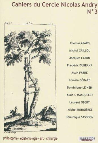 Cahiers du Cercle Nicolas Andry, N 3 :