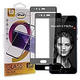 Guran [2 Pezzi Pellicola Vetro Temperato per Huawei P10 Plus (5.5pollice) Smartphone Copertura Completa 9H Durezza Anti-Impronte HD Pellicola Protettiva - Nero