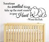 wandaufkleber groß Manchmal nehmen die kleinsten Dinge den größten Platz in Ihrem Herzen für das Kinderzimmer im Kindergarten ein