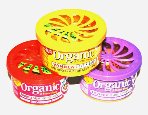 Preisvergleich Produktbild 3 Stück Organic Scent Pad Duftdosen in Frauendüften: Bubble Gum, Lavendel und Vanille