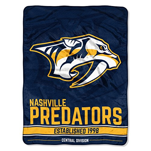 The Northwest Company NHL Break Away Micro Raschel Überwurf, offizielles Lizenzprodukt, 116,8 x 152,4 cm, Unisex, NHL Break Away 46-inch by 60-inch Micro Raschel Throw Blanket, Gold, 46