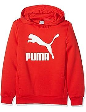 Puma Classic, Felpa con Cappuccio Unisex-Bambino, Flame Scarlet, 4T
