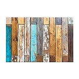 JoneAJ Tappeti da bagno antichi in legno da parati Tappeti da bagno colorati rustici in lerciume Tavolino da doccia in legno di casa Barn 15.7x23.6in Zerbino Oggettistica per la casa