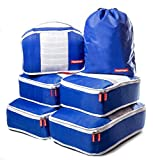 Hashtage® Packing Cubes, 6 set Lightweight luggage packing organisers, Compressible Cubes, Suitcase Organiser